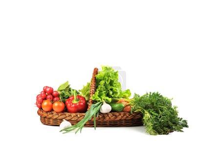 Photo for Basket full of fresh vegetables - Royalty Free Image