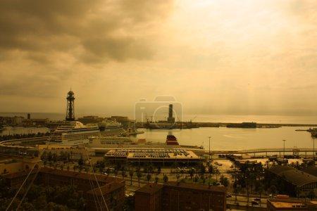 Port of Barcelona. Sunset