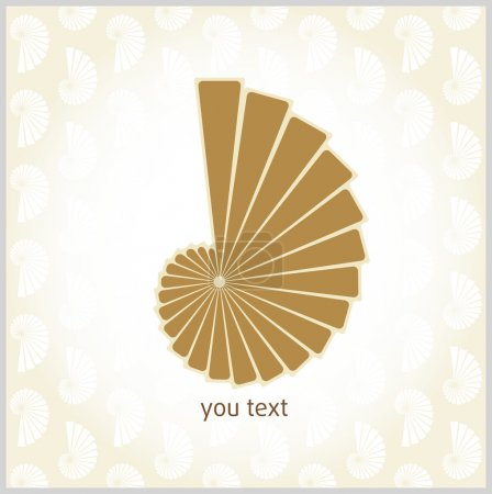 Illustration for Spiral, shell, clam, nautilus, sigmenty, rays, logo - Royalty Free Image