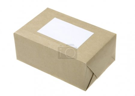 Parcel Wrapped In Brown Paper