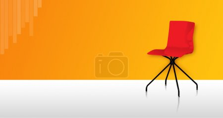 Photo for Office Chair with colorful wall & floor - Royalty Free Image