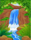 Beautiful waterfall in the jungle