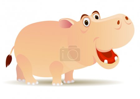 Illustration for Vector cute hippo cartoon - Royalty Free Image