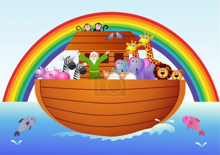 Photo pour Illustration vectorielle de l'arche de Noé - image libre de droit