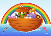 Vector illustration of Noah's ark