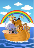Vector illustration of Noah Ark