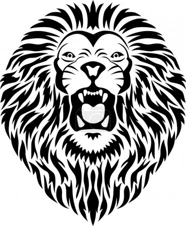 Illustration for Illustration of lion tattoo - Royalty Free Image