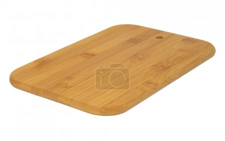 Photo for Wooden cutting board isolated on white. - Royalty Free Image