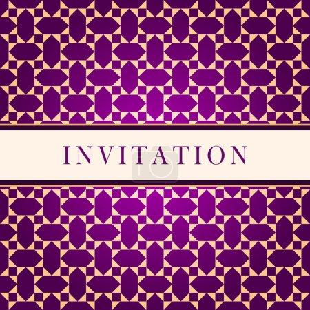 Invitation ornate red card