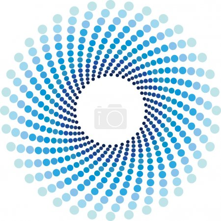 Blue halftone circles background