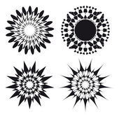 Spirograph vector ornament tattoo design elements