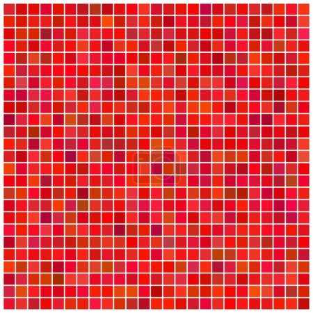 Illustration for Square vector red mosaic background - Royalty Free Image