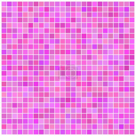 Square pink mosaic background