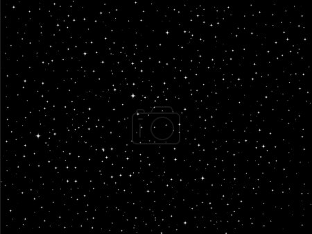 Stars vector night sky