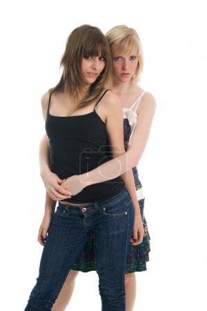 Photo pour Belles adolescentes. Isolé sur blanc - image libre de droit