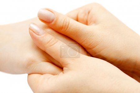Photo for Female palm and fingers massage - Royalty Free Image