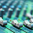 Buttons equipment in audio recording studio of the...