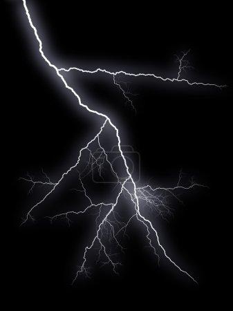 Foto de Flash relámpagos sobre fondo negro - Imagen libre de derechos