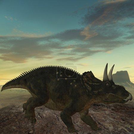3D Render of an Diceratops-3D Dinosaur...