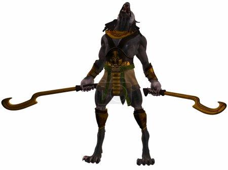 Photo pour Rendu 3D de monstre égyptien Anubis-Fantasy - image libre de droit