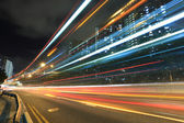 Highway car light blur