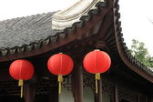 Three lantern under roof