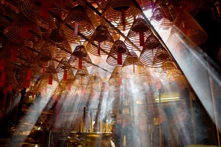 Incense and crepuscular rays