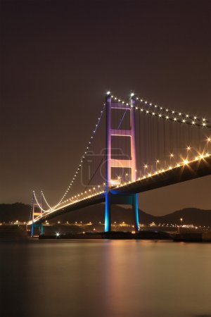 Tsing Ma Bridge night view