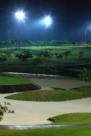 Golf court at night