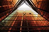 """Постер, картина, фотообои """"Здание с окнами оранжевого цвета"""""""