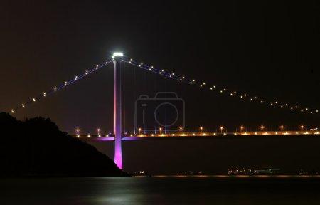 Hong Kong, Tsing ma bridge at night