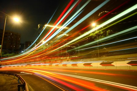 Photo for Highway light trails - Royalty Free Image
