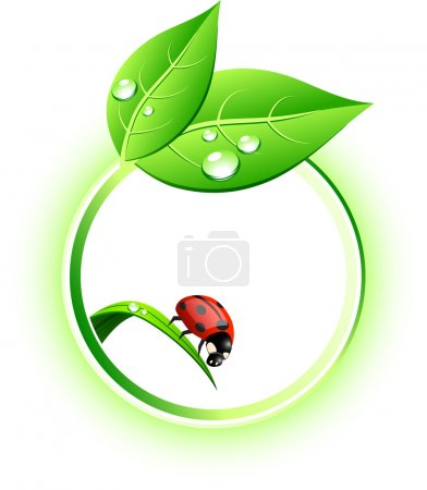 Illustration for Beautiful eco icon. Vector illustration. - Royalty Free Image