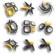 Abstract design elements. Vector illustration....