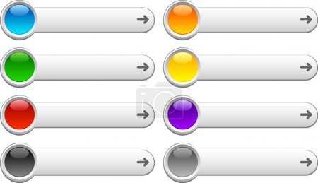 Illustration for Web shiny buttons. Vector illustration. - Royalty Free Image