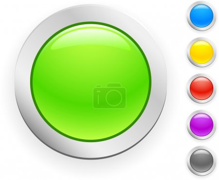 Illustration for 6 high-detailed buttons. Vector illustration. - Royalty Free Image