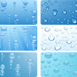Water set for cards. Vector illustration....