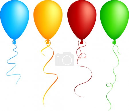 Illustration for Realistic color balloons. Used mesh. - Royalty Free Image