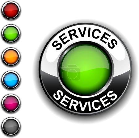 Illustration pour Bouton réaliste de services. Vector. - image libre de droit