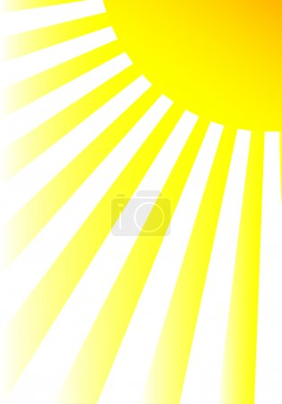 Illustration for Sun and sunbeams. Vector illustration. - Royalty Free Image