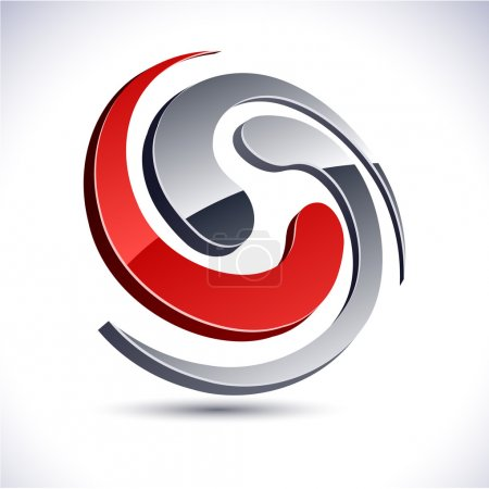 Abstract 3d swirl icon.