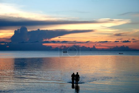 Couple on the beach - Sunset