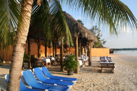 Beach resort vacation in the scenic Caribbean...