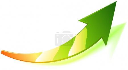 Illustration pour Flèche vectorielle cool . - image libre de droit