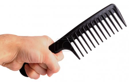 Comb in hand