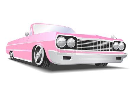 Pink american car