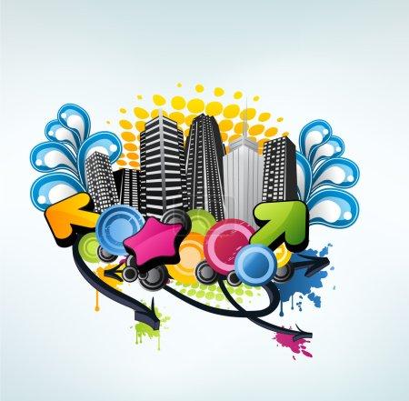 Colorful party city design
