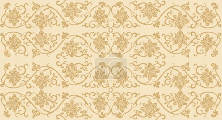 Lotus brocade wallpaper
