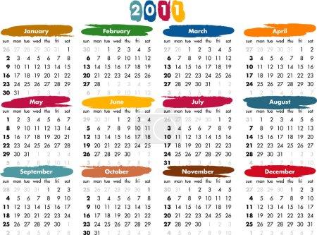 2011 calendar - US