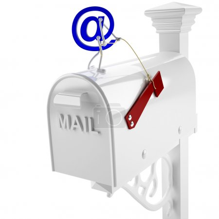 Photo for This 3D image E-mail to the mailbox - Royalty Free Image